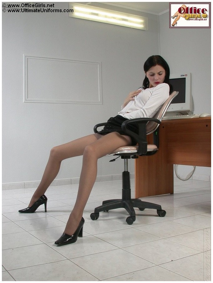 pantyhosed secretary